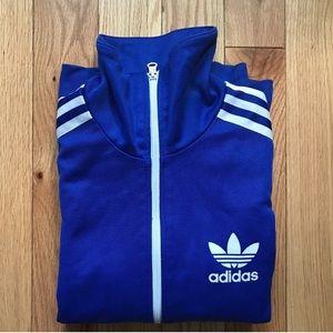 Royal blue adidas firebird jacket size small